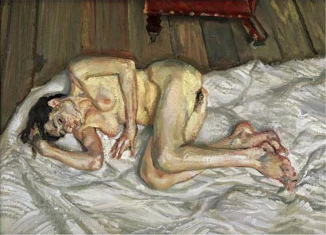 Reproduction of Lucian Freud Painting art -After Breakfast, 2001