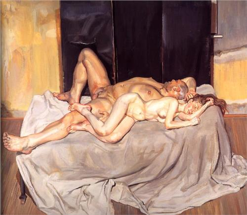 Reproduction of Lucian Freud Painting, And the Bridegroom, 2001