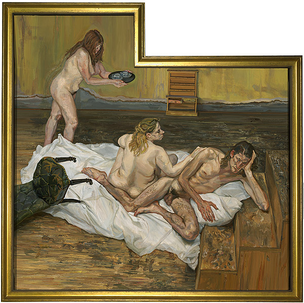 Reproduction of Lucian Freud art After Cézanne not framed