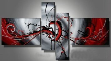 Passion color Modern Abstract Oil Painting on canvas 4 pics