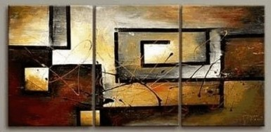 Modern Painting Wall Decor Stretched and Framed 3 Piece Canvas