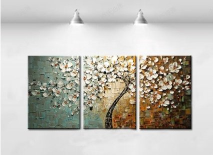 Beautiful modern abstract wall art oil painting on canvas 3 pics