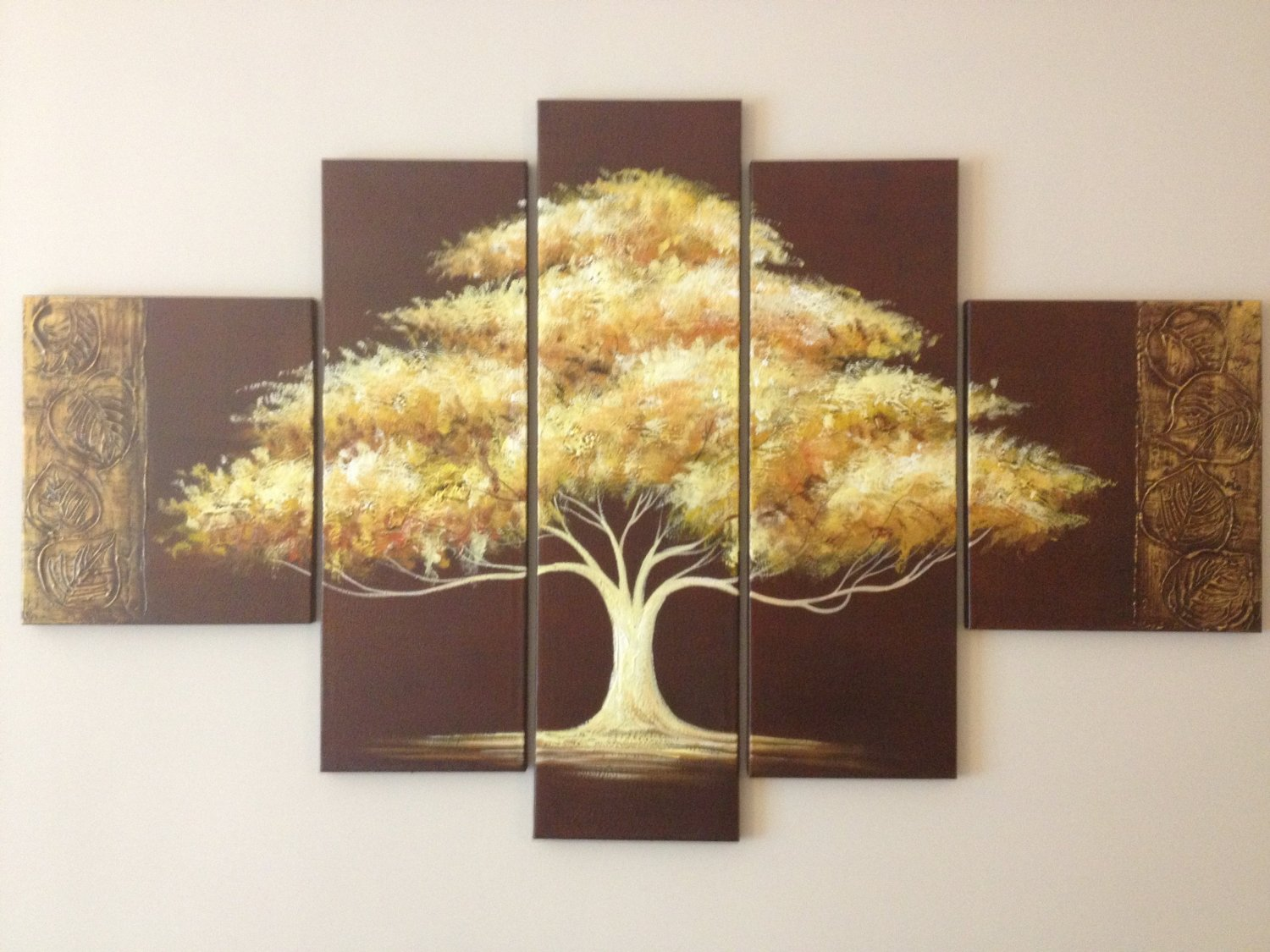Tree of Life Modern Abstract Oil Painting on canvas 5 pcs