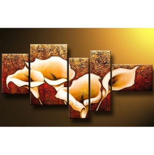 Calla Lily Flower Modern Abstract Oil Painting on canvas 5 pcs
