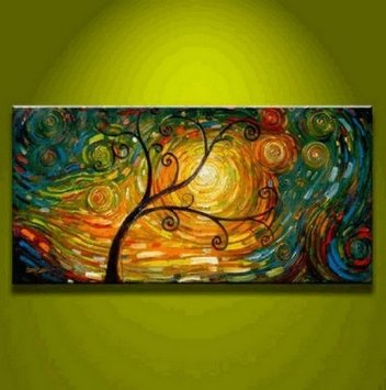 Abstract Oil Paintings on canvas Wall art Tree of Life