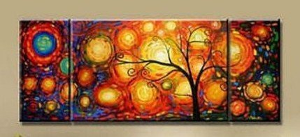 Beautiful Modern Abstract Oil Painting on canvas 3 pcs