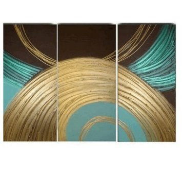 Modern Abstract Art on canvas for home decoration 3 pcs