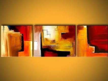 Modern Abstract oil painting on canvas 3 pcs for Home Decoration
