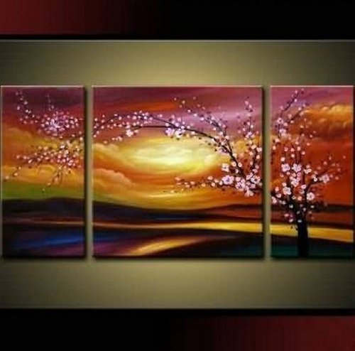 Plum Tree Blossom Home Decoration Abstract Oil Painting