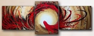 Home Decoration Modern Abstract Oil Painting On Canvas 3 pcs