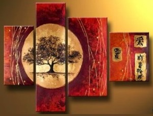 Grace love Modern Abstract Oil Painting on canvas 4 pcs