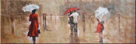 """Waiting in the Rain"" Abstract Oil Paintings on canvas Wall art"