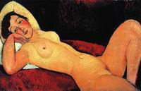 Amedeo Modigliani paintings Reclining Nude (aka La Reveuse) 1917
