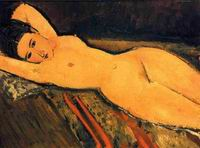 Amedeo Modigliani Reclining Nude,Arms Folded under Her Head 1916
