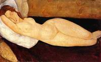 Amedeo Modigliani Reclining Nude, Head Resting on Right Arm 1919