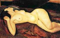Reproduction of Amedeo Modigliani paintings Recumbent Nude 1917
