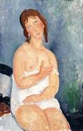 Amedeo Modigliani paintings artwork The Dairymaid