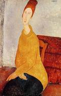 Reproduction of Yellow Sweater (aka Portrait of Jeanne Hebuterne