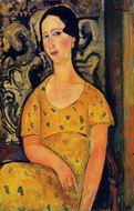 Reproduction of Young Woman in a Yellow Dress (aka Madame Modot)