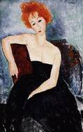 Reproduction of Young Redhead in an Evening Dress 1918