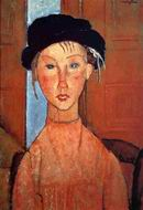 Reproduction of Young Girl in Beret 1918