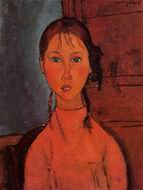 Reproduction of Girl with Braids 1918