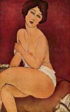 "Amedeo Modigliani Nude Sitting on a Divan (""La Belle Romaine""),"
