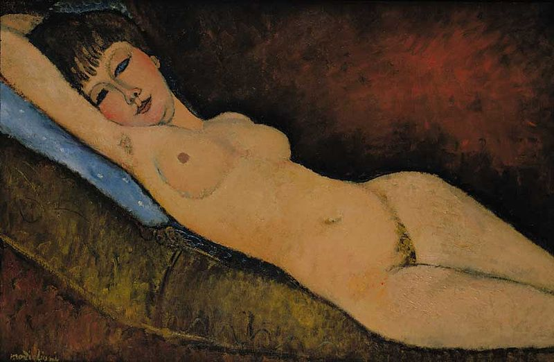 Amedeo Modigliani Paintings reclining nudes by Modigliani, 1916