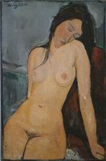 Amedeo Modigliani paintings Female nude; Iris Tree, c. 1916
