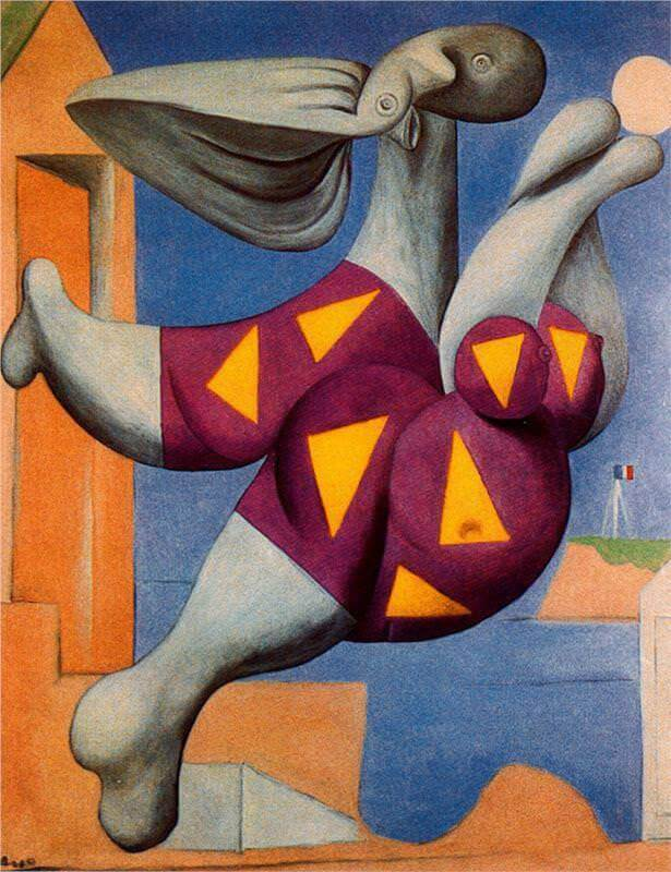 Reproduction paint Bather with Beach Ball, 1932 by Pablo Picasso