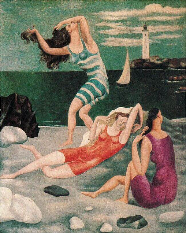 Reproduction painting on canvas Bathers, 1918 by Pablo Picasso
