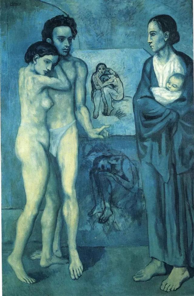 Reproduction Picasso's 1903 Blue Period masterpiece La Vie