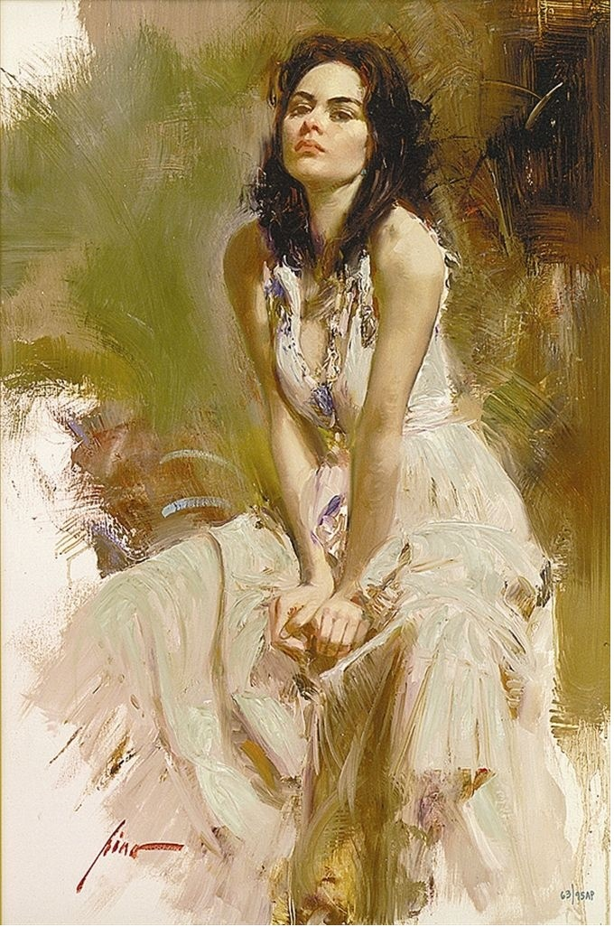 Reproductions of Pino daeni Little impression oil painting