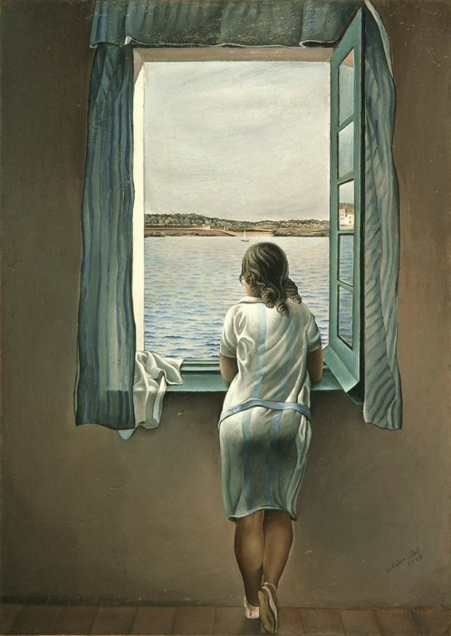 Oil painting on canvas Salvador Dali - the girl in the window