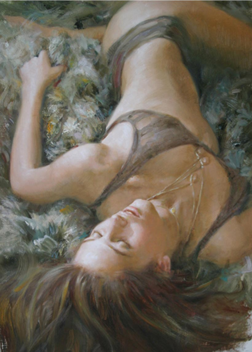 Hand painted oil paintings reproductions of Sensual Awakening