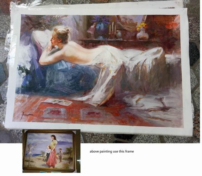Framed oil painting reproductions Pino Daeni Mystic Dreams