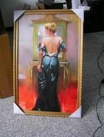 Framed oil painting reproductions of Pino Daeni's art