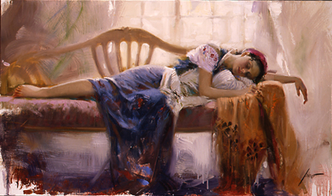 Pino Daeni At Rest painting reproductions of paintings on canvas