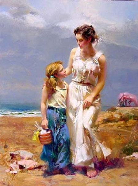 Pino Daeni's by the sea Pino painting reproductions on canvas