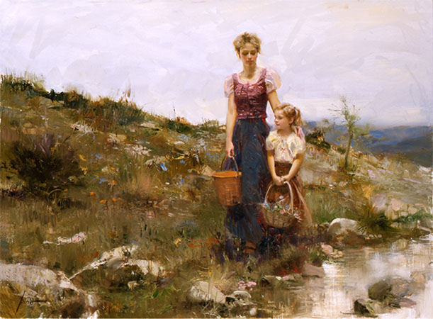 Pino Daeni close to home reproductions of paintings on canvas