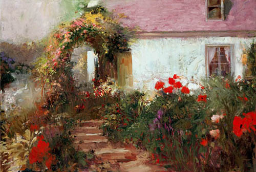 Pino Daeni art Colourful Archway reproductions of paintings