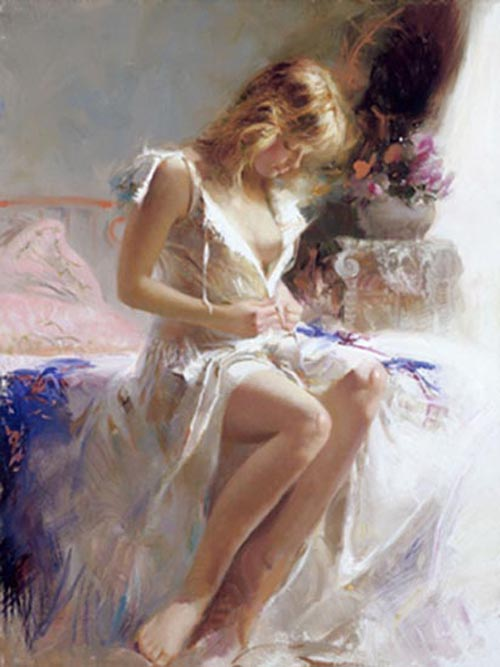 Pino Daeni Early Morning reproductions oil paintings on canvas