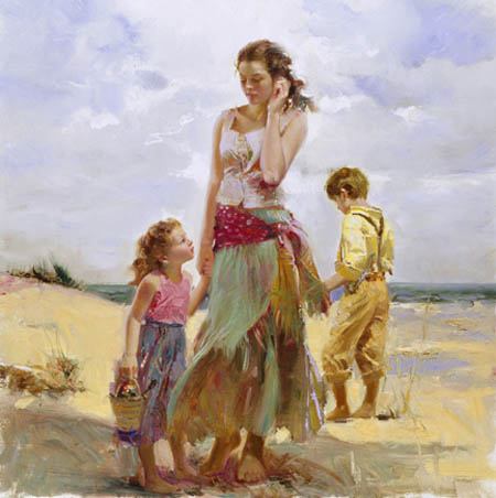 Pino Daeni Golden Afternoon reproductions of paintings on canvas