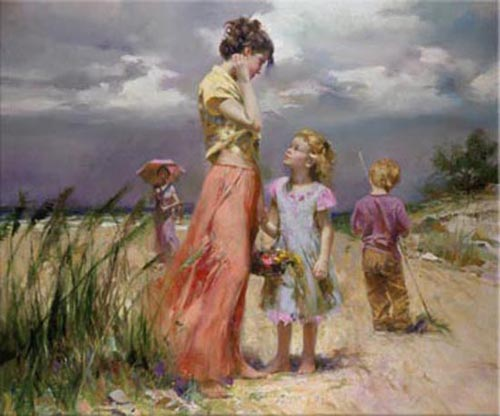 Pino Daeni Paintings Remember When Reproductions on canvas