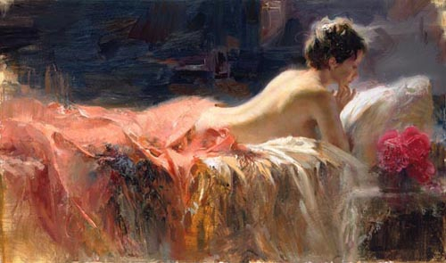 Pino Daeni oil paintings Soft Light Reproductions of paintings