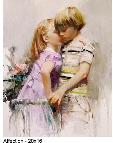 Pino Daeni's oil painting on canvas art Affection PD-1318