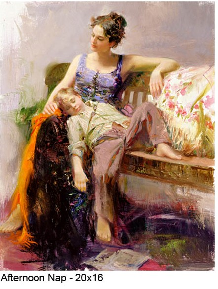 Pino Daeni Afternoon Nap reproductions of paintings on canvas