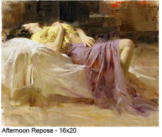 Pino Daeni Afternoon Repose reproductions of paintings on canvas
