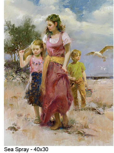 Pino Daeni oil Paintings Sea Spray Reproductions of paintings