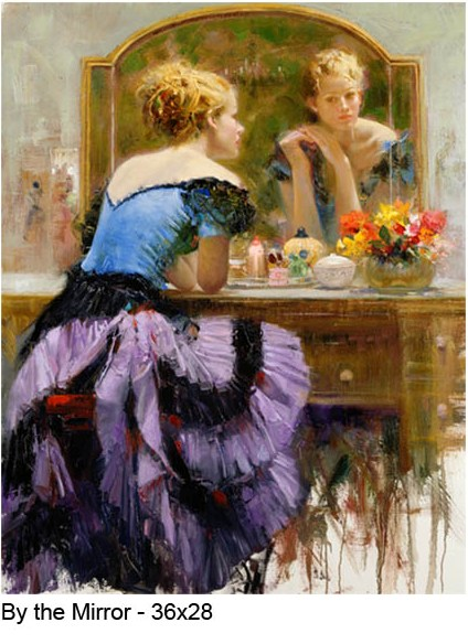 Pino Daeni By the Mirror reproductions of paintings on canvas